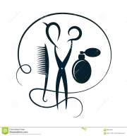 scissors and hairbrush hairdressers