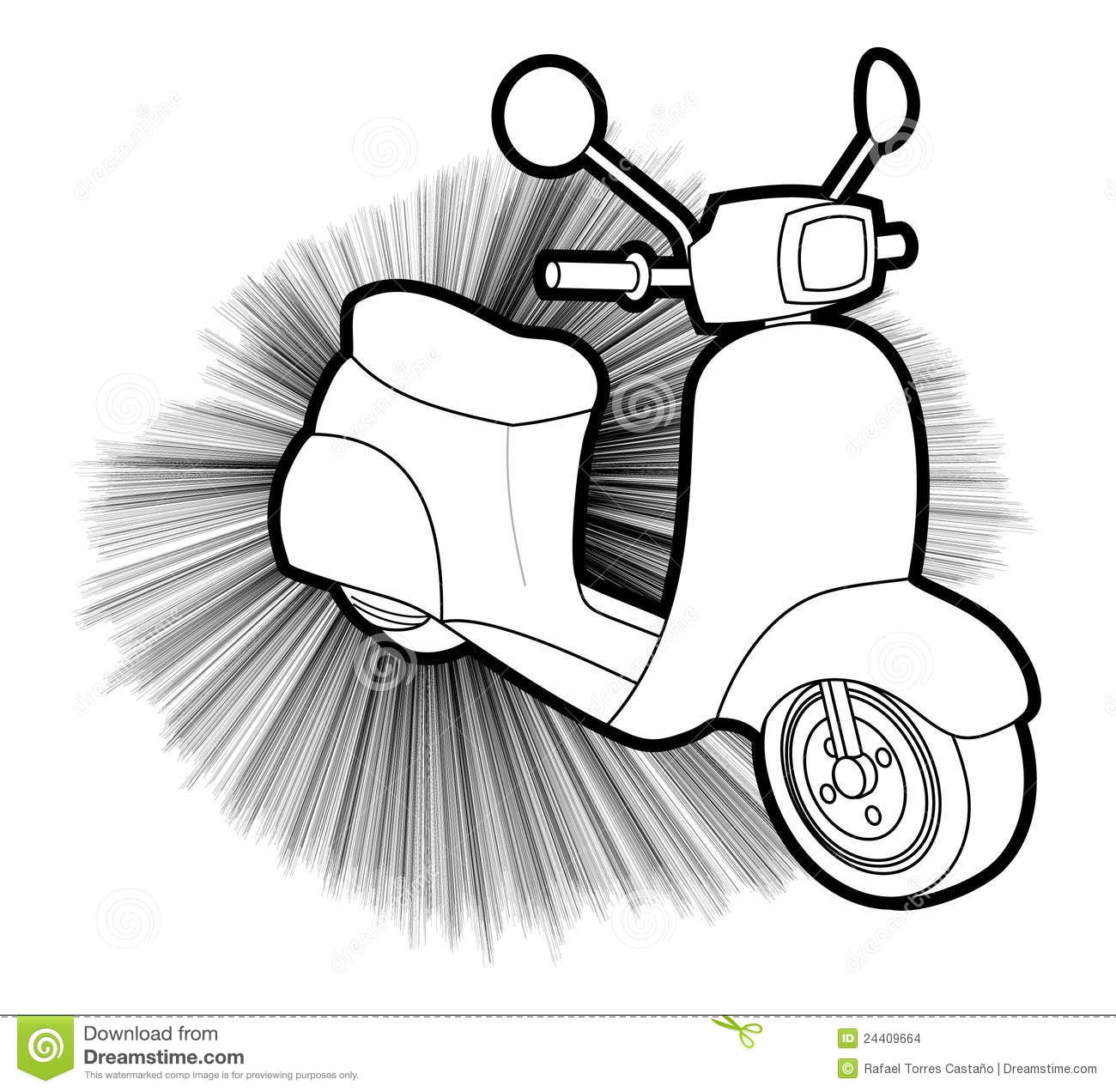 Scooter Creative Design Stock Vector Illustration Of
