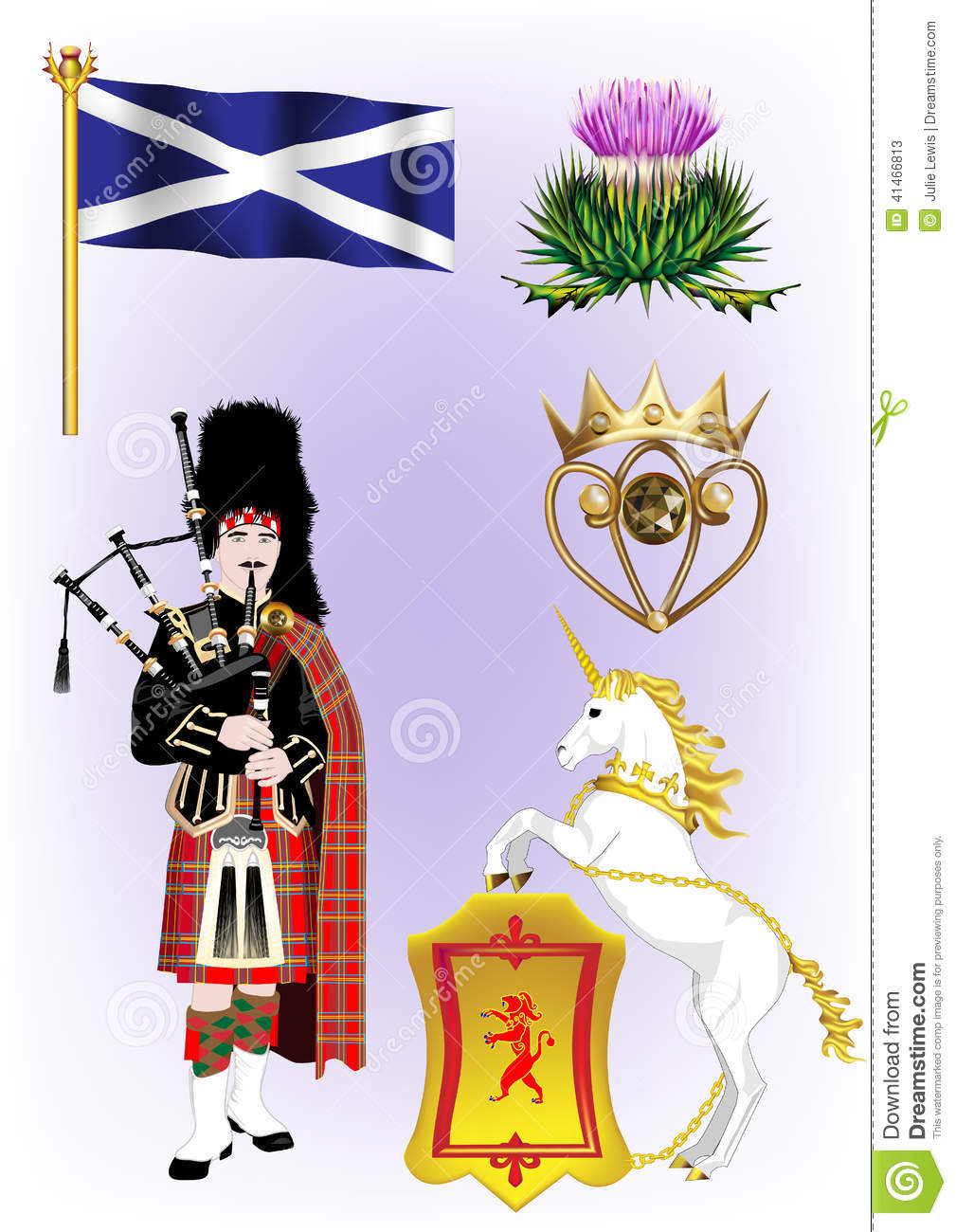 Scottish Vector Illustrations Stock Vector Image 41466813