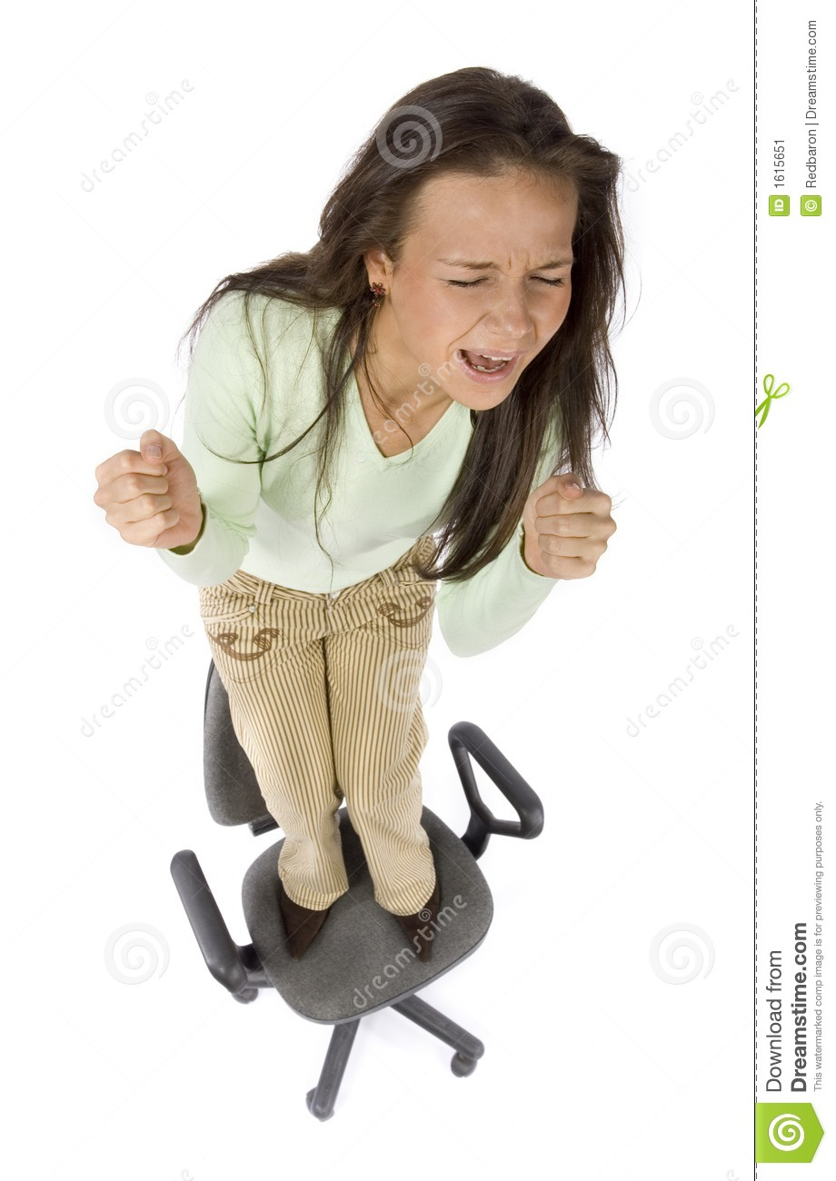 stress free chair ikea usa chairs screaming woman standing on the office stock image - of people, hysteria: 1615651