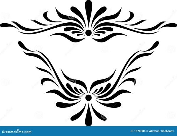 scroll design royalty free stock