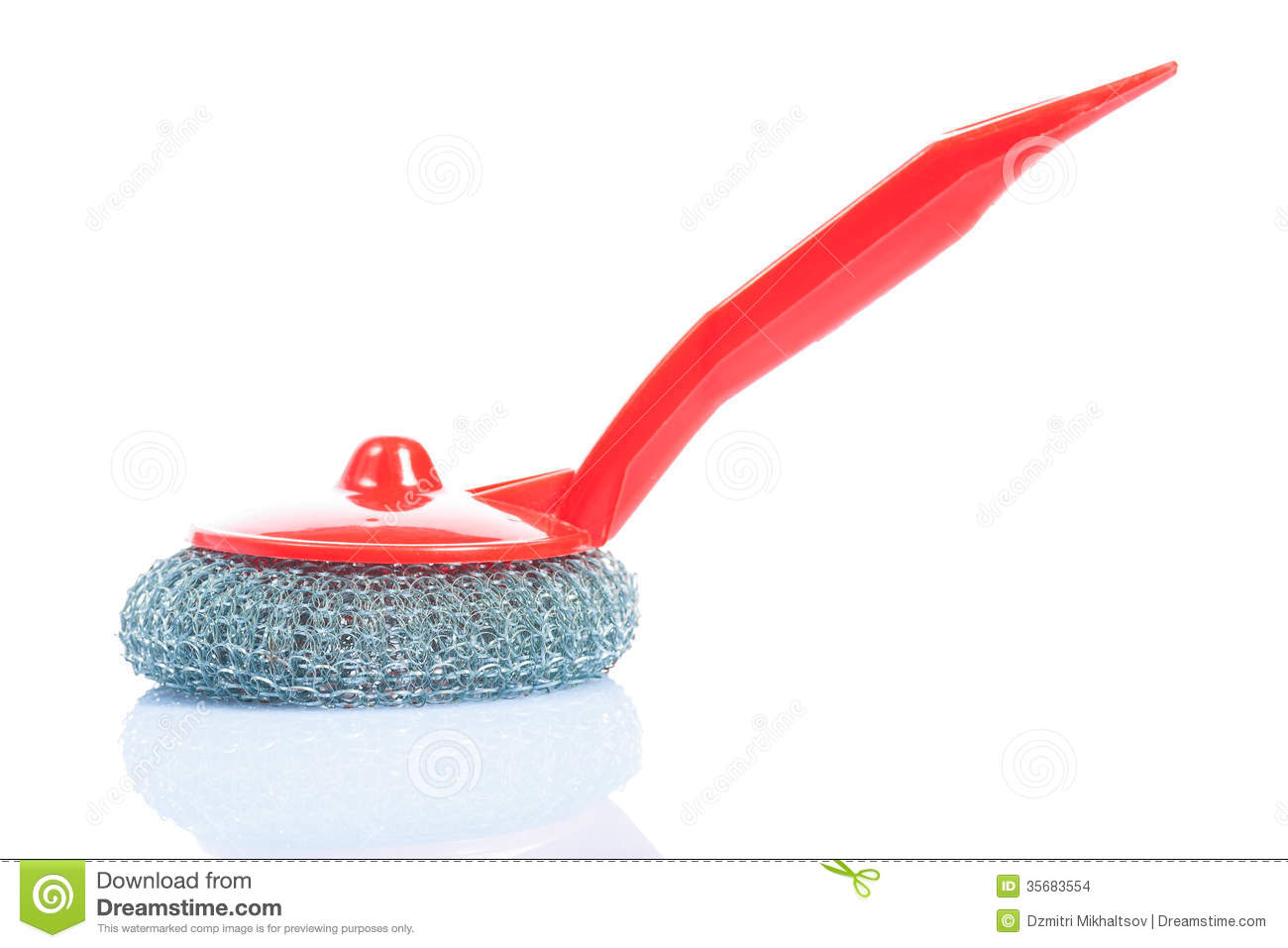 kitchen scrub brush aid mixer sale with red handle isolated stock photo image