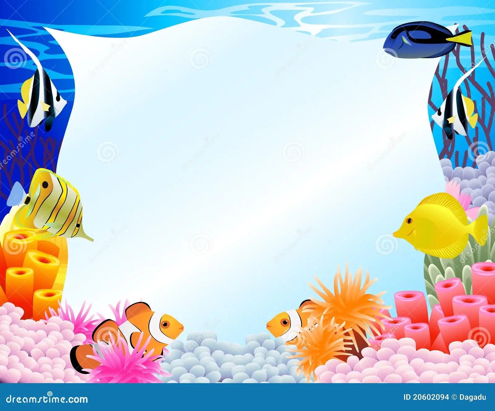 Cute Algae Wallpaper Sea Life Background Stock Vector Illustration Of Happy