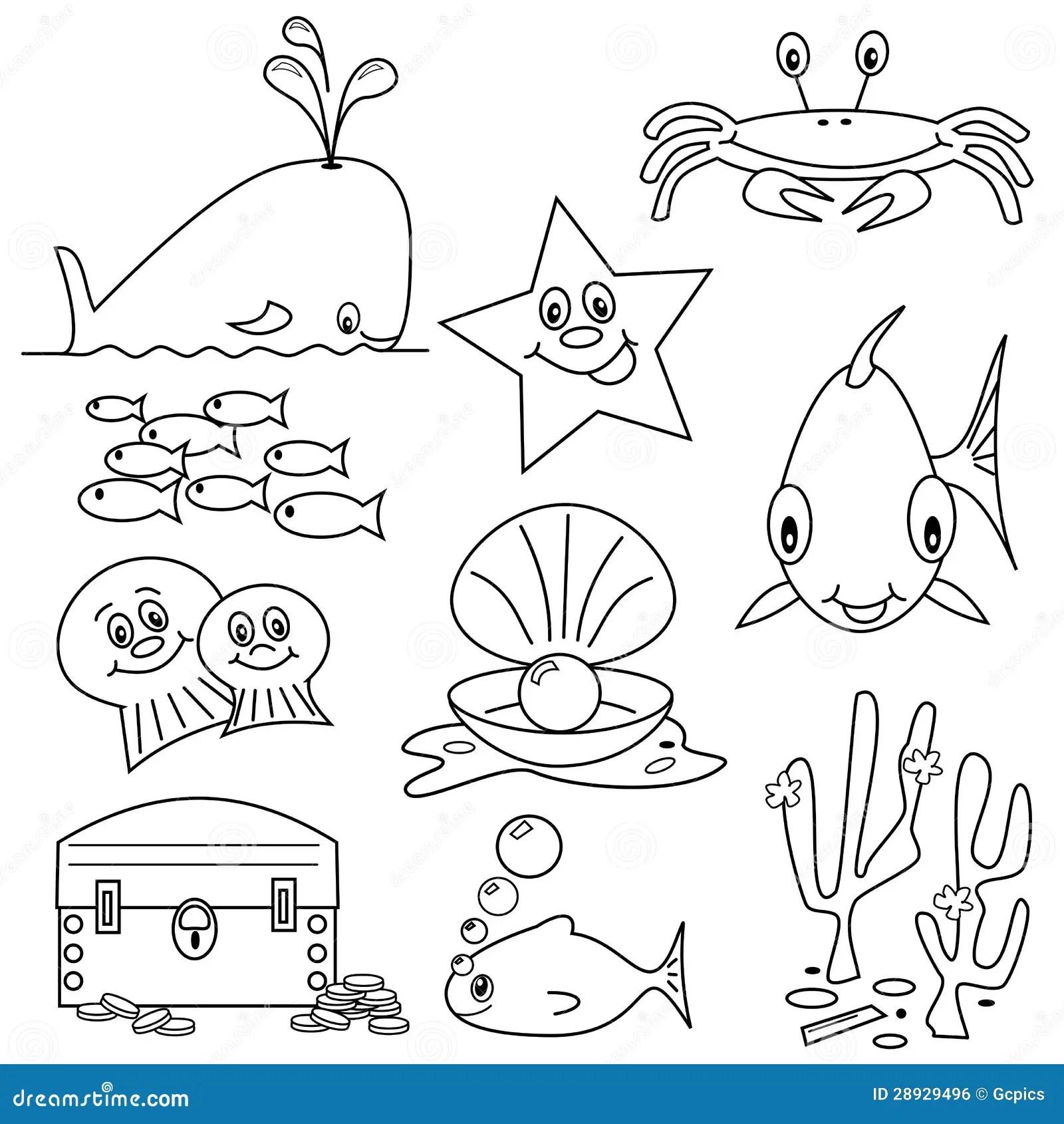 Sea Life Cartoons Stock Vector Illustration Of Animal