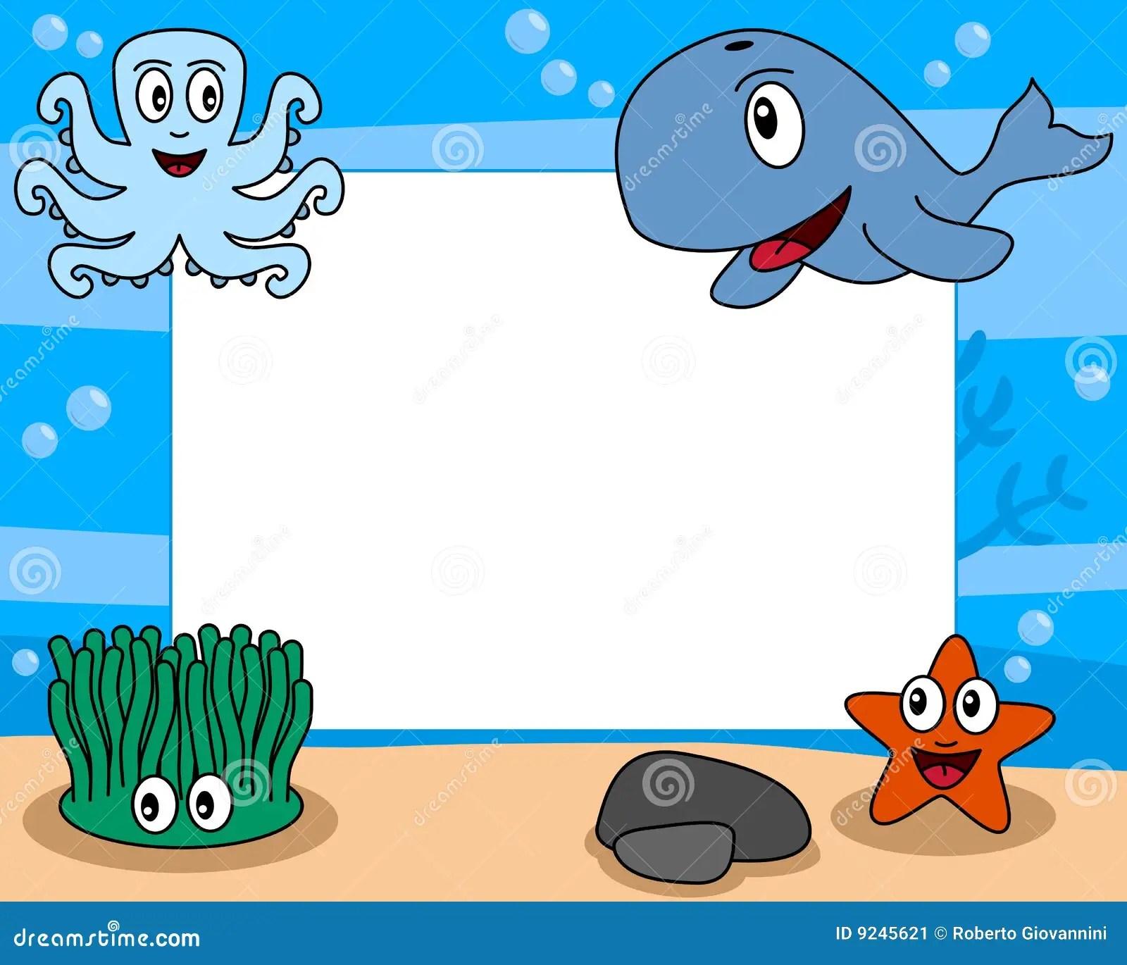 Sea Life Photo Frame 2 Stock Image