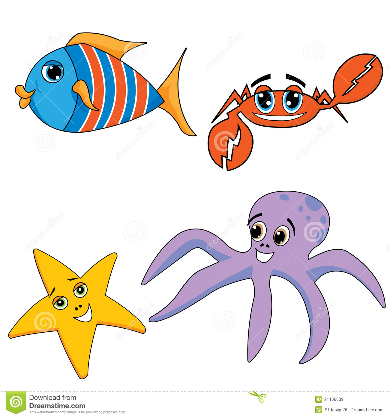 Sea Ocean Animals Royalty Free Stock Images
