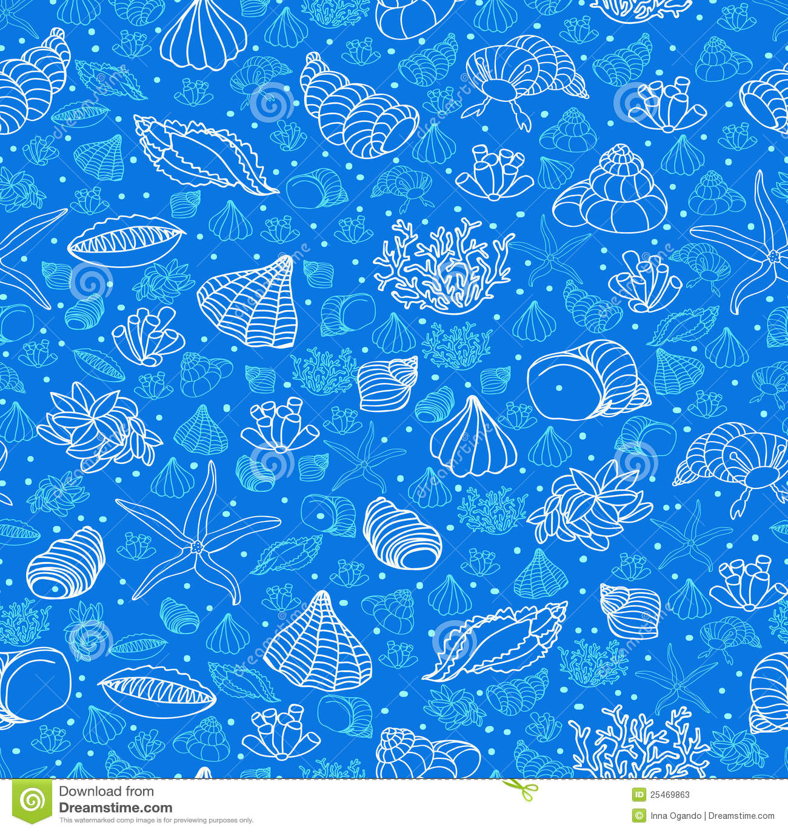 Cute Algae Wallpaper Sea Pattern Stock Vector Illustration Of Cute Seascape