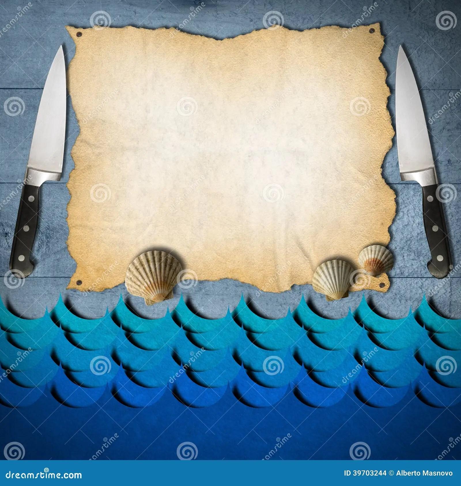 Seafood Menu Template Stock Illustration Image 39703244