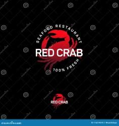 crab seafood silhouette emblem restaurant preview ocean