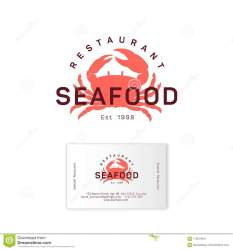 seafood restaurant crab silhouette emblem sea business preview