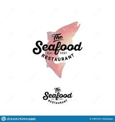 silhouette seafood salmon watercolor restaurant isolated background light preview
