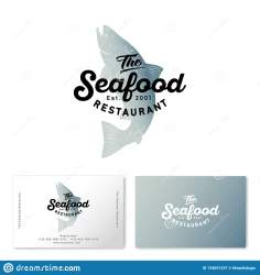 seafood silhouette salmon watercolor isolated restaurant