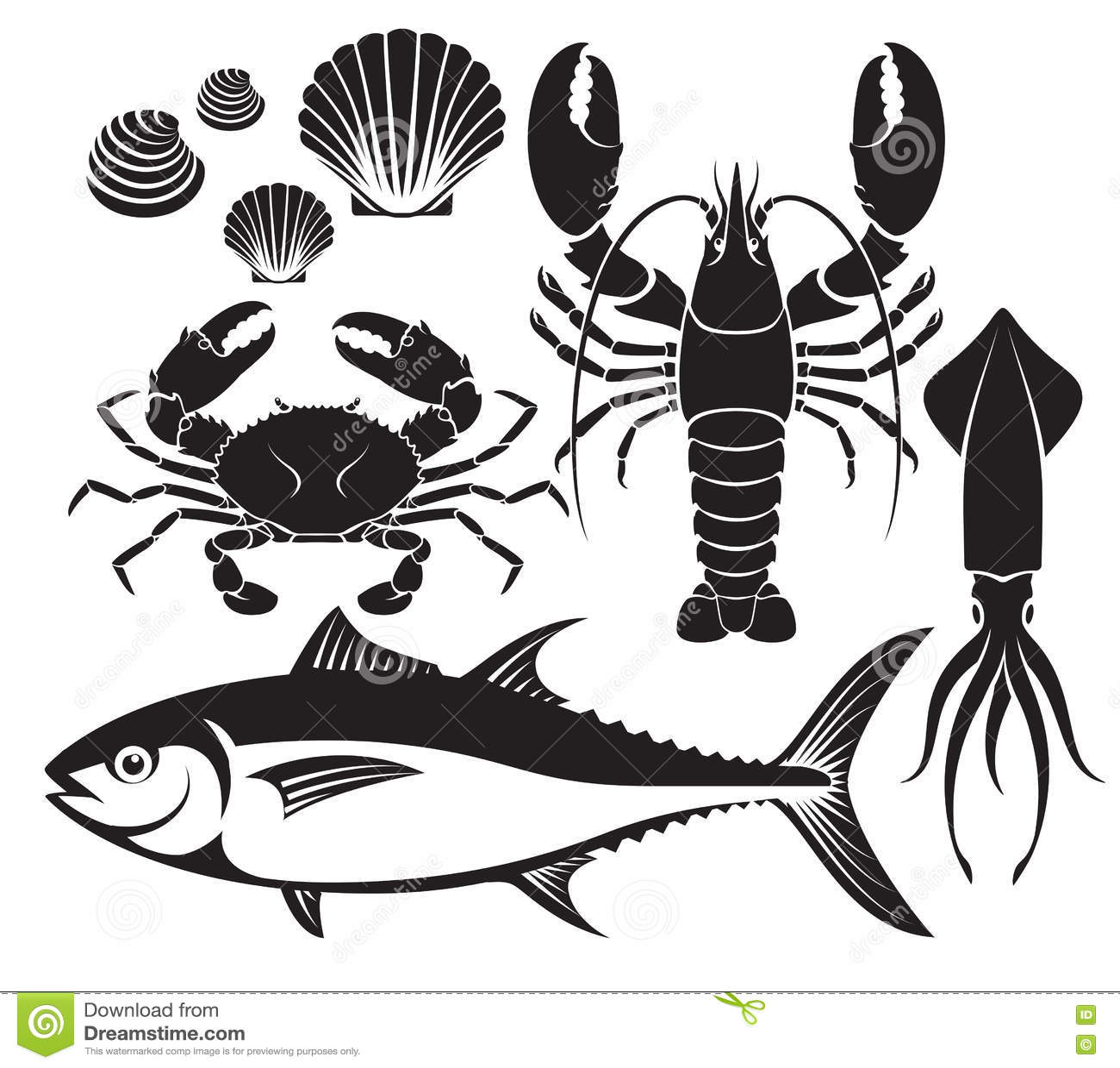 Crab Silhouette Cartoon Vector