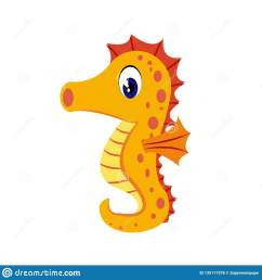 seahorse cartoon or seahorse clipart cartoon isolated on white background [ 1600 x 1689 Pixel ]