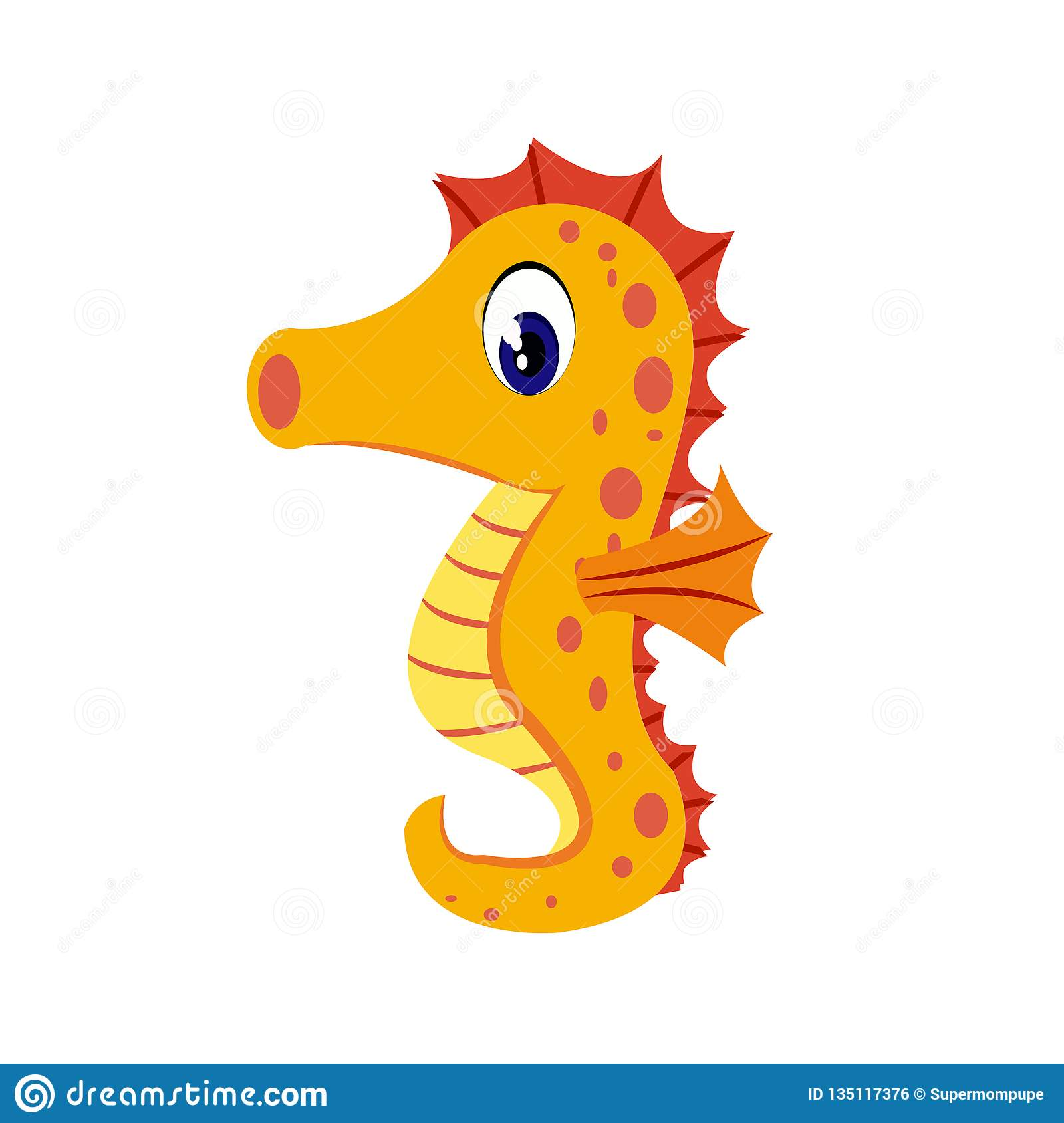 hight resolution of seahorse cartoon or seahorse clipart cartoon isolated on white background