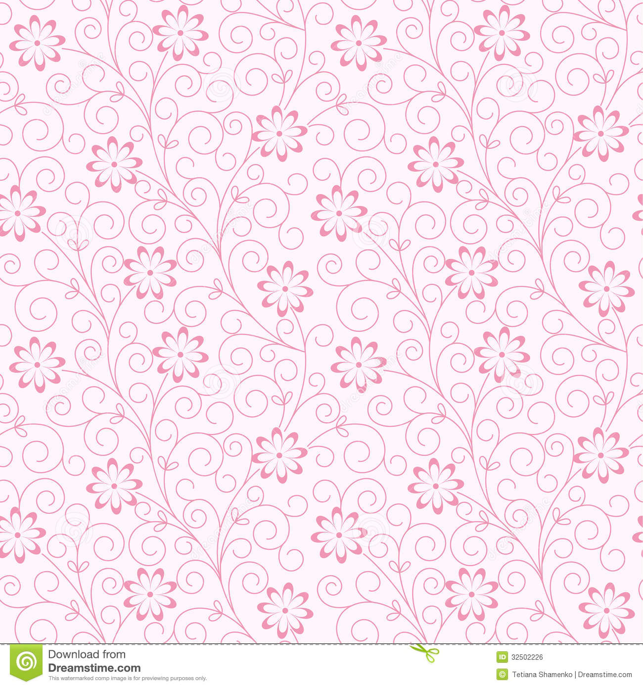 Cute Vintage Floral Wallpaper Seamless Abstract Floral Background Royalty Free Stock