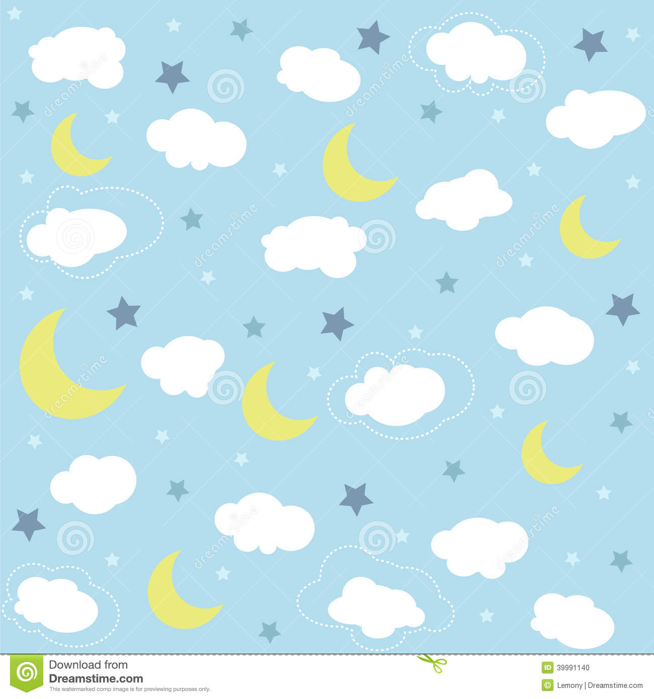Cute Elephant Cartoon Wallpapers Seamless Baby Pattern Wallpaper Stock Photo Image Of