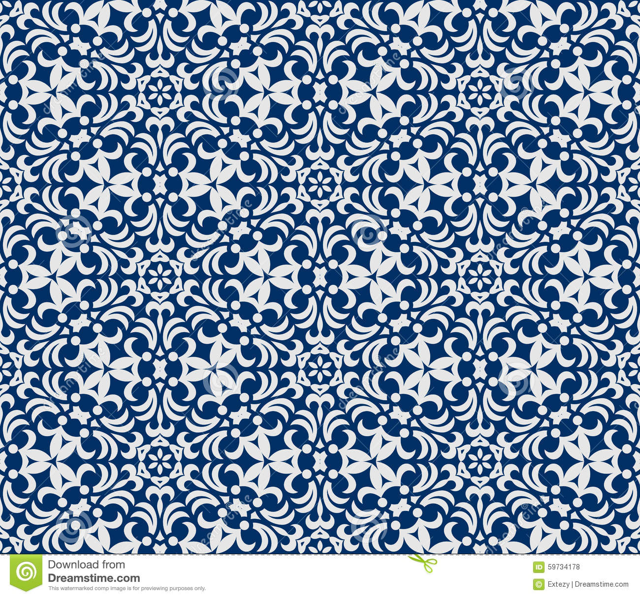 Seamless Background In Arabic Style Stock Vector