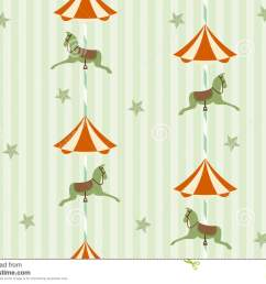 seamless background pattern of carousel horse vector illustrations [ 1300 x 1009 Pixel ]