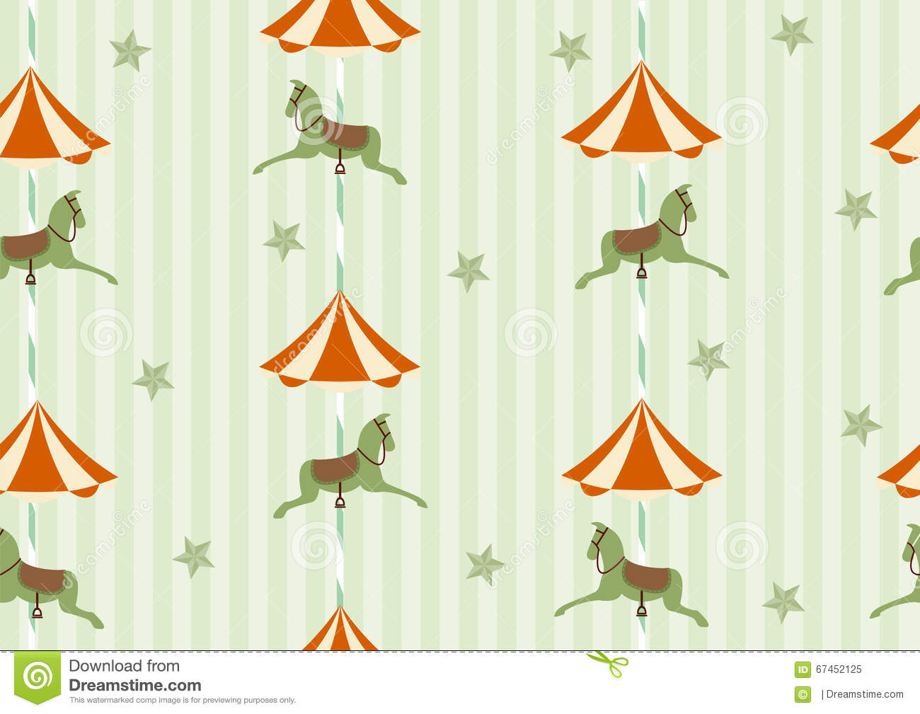 hight resolution of seamless background pattern of carousel horse vector illustrations
