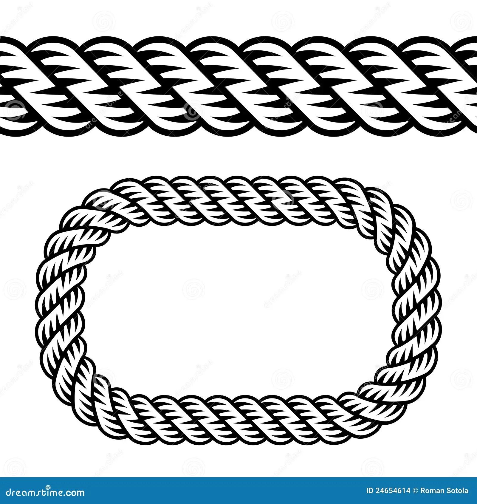 Seamless Black Rope Symbol Stock Vector Illustration Of