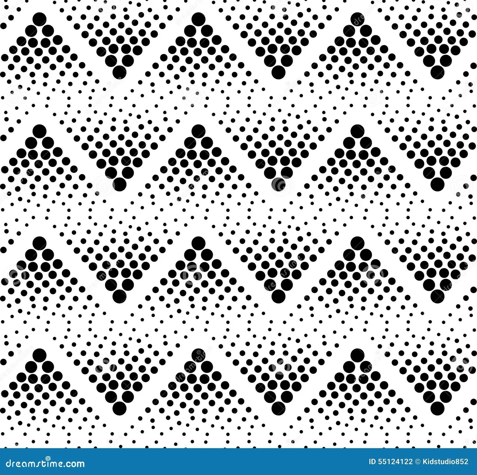 Chevron Zigzag Dotted Black Monochrome Pattern Seamless