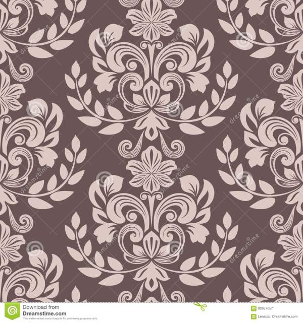 Seamless Brown And Beige Floral Wallpaper Stock Vector ...