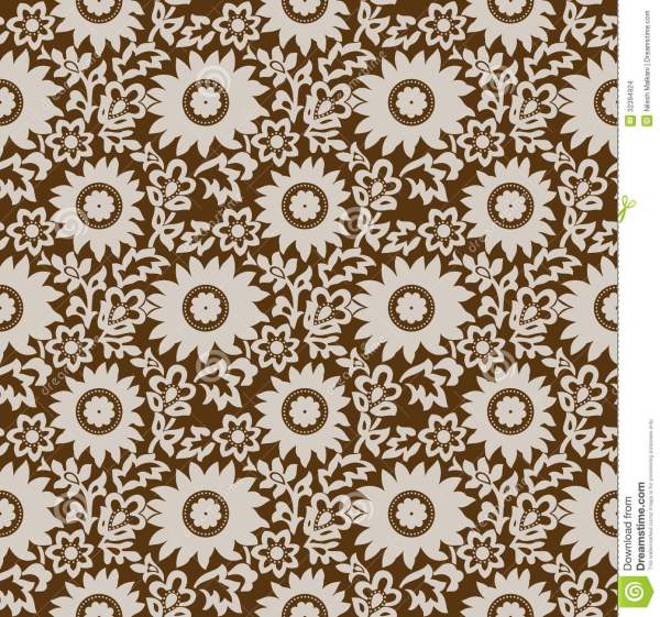 Brown Floral Texture