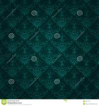 Seamless Dark Green Vintage Wallpaper Design Stock Vector ...