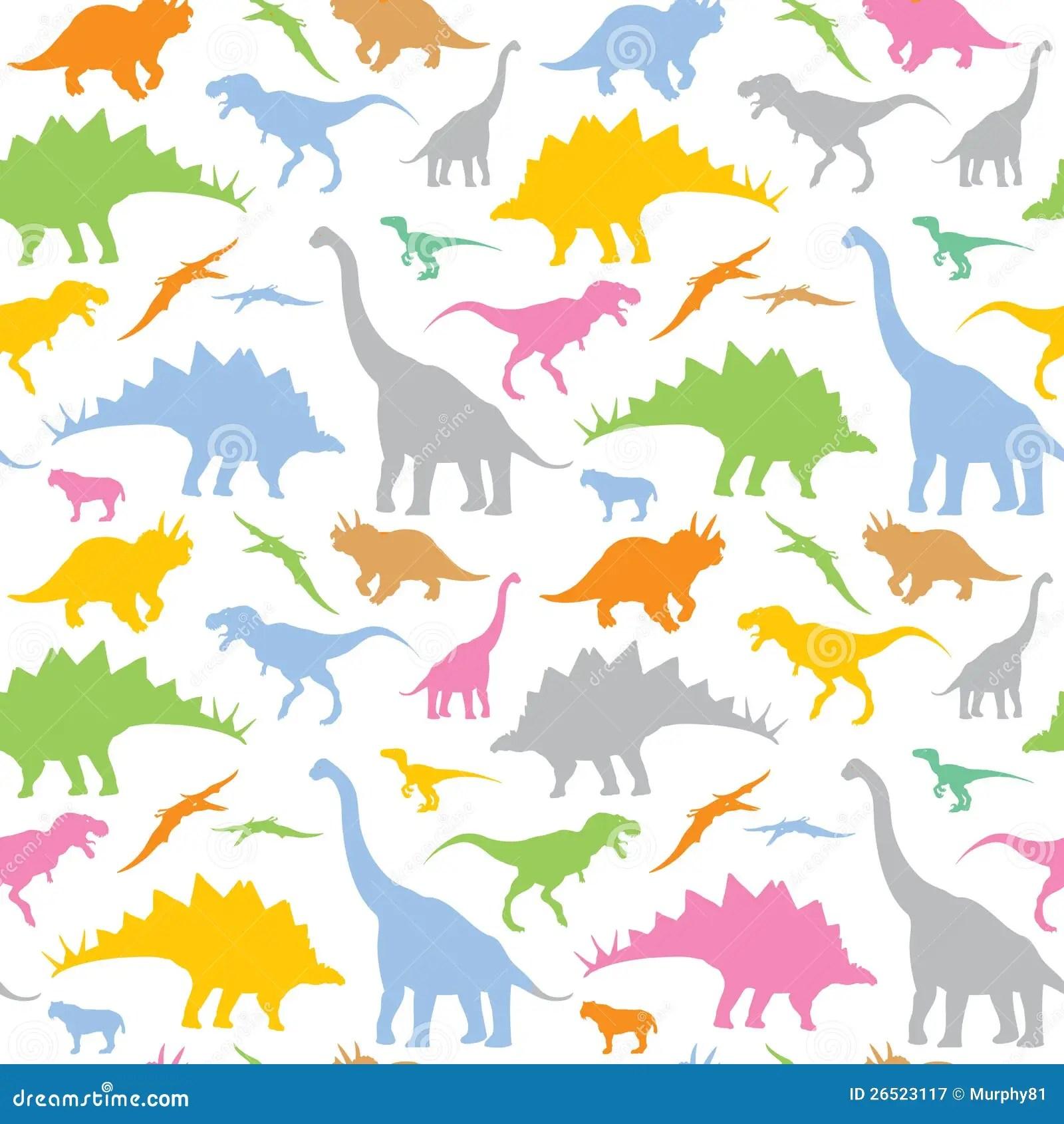Seamless Dinosaur Pattern Stock Vector Illustration Of