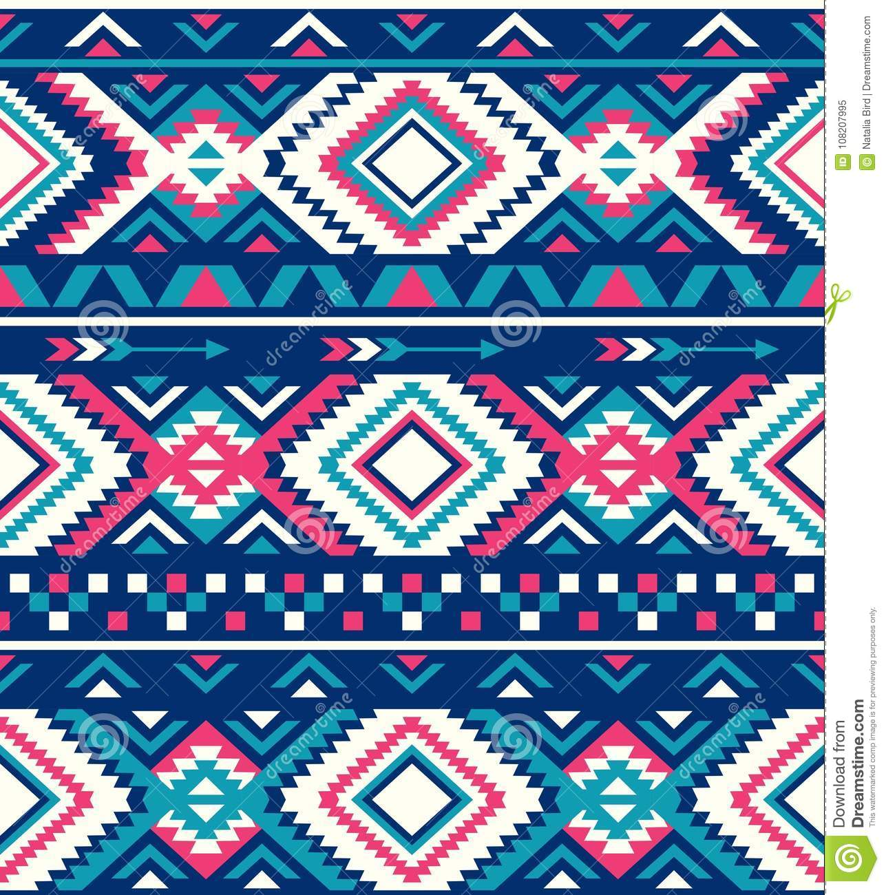 Seamless Ethnic Pattern Textures Native American Pattern