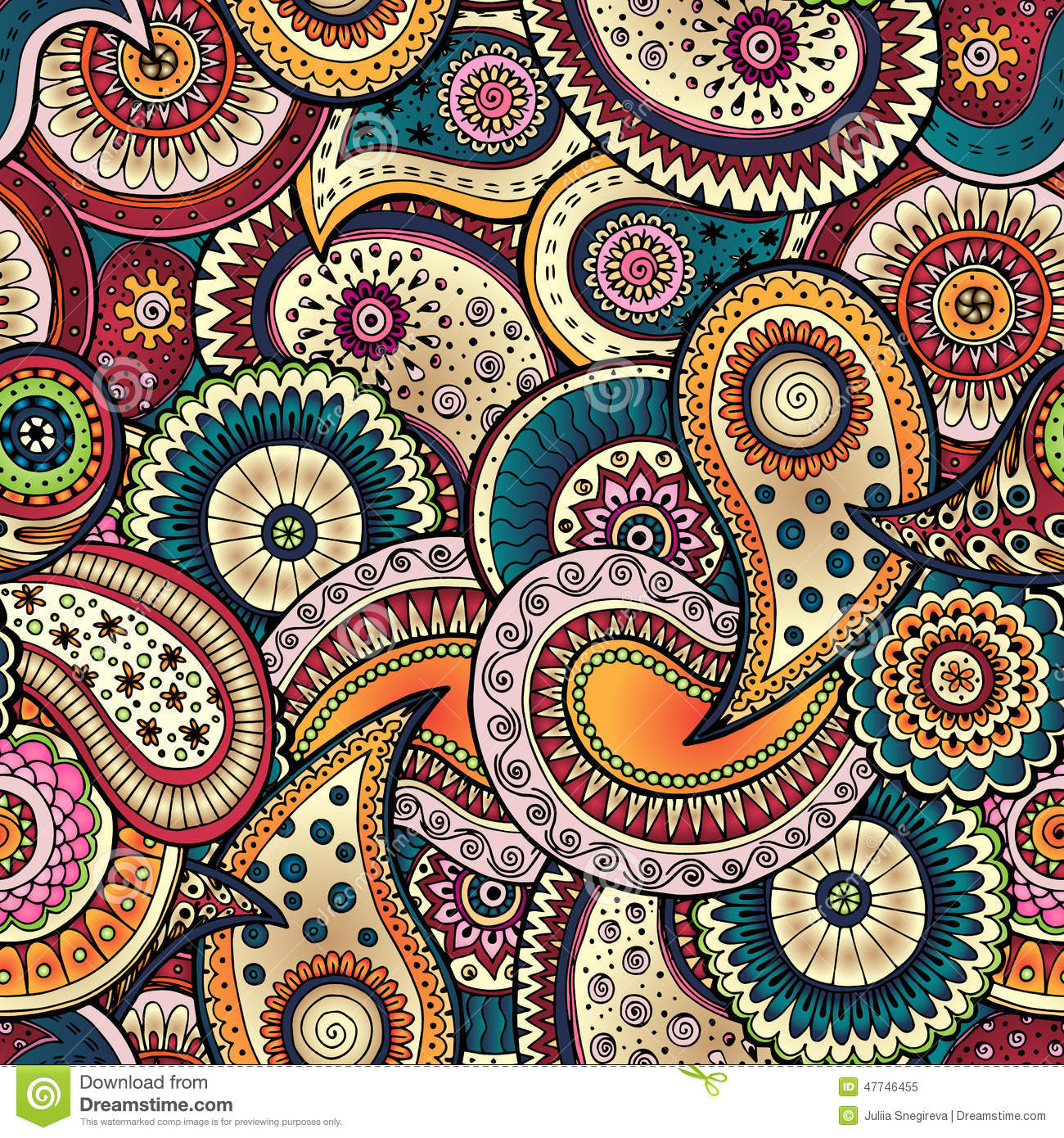 Seamless Floral Background Pattern In Vector Stock Vector