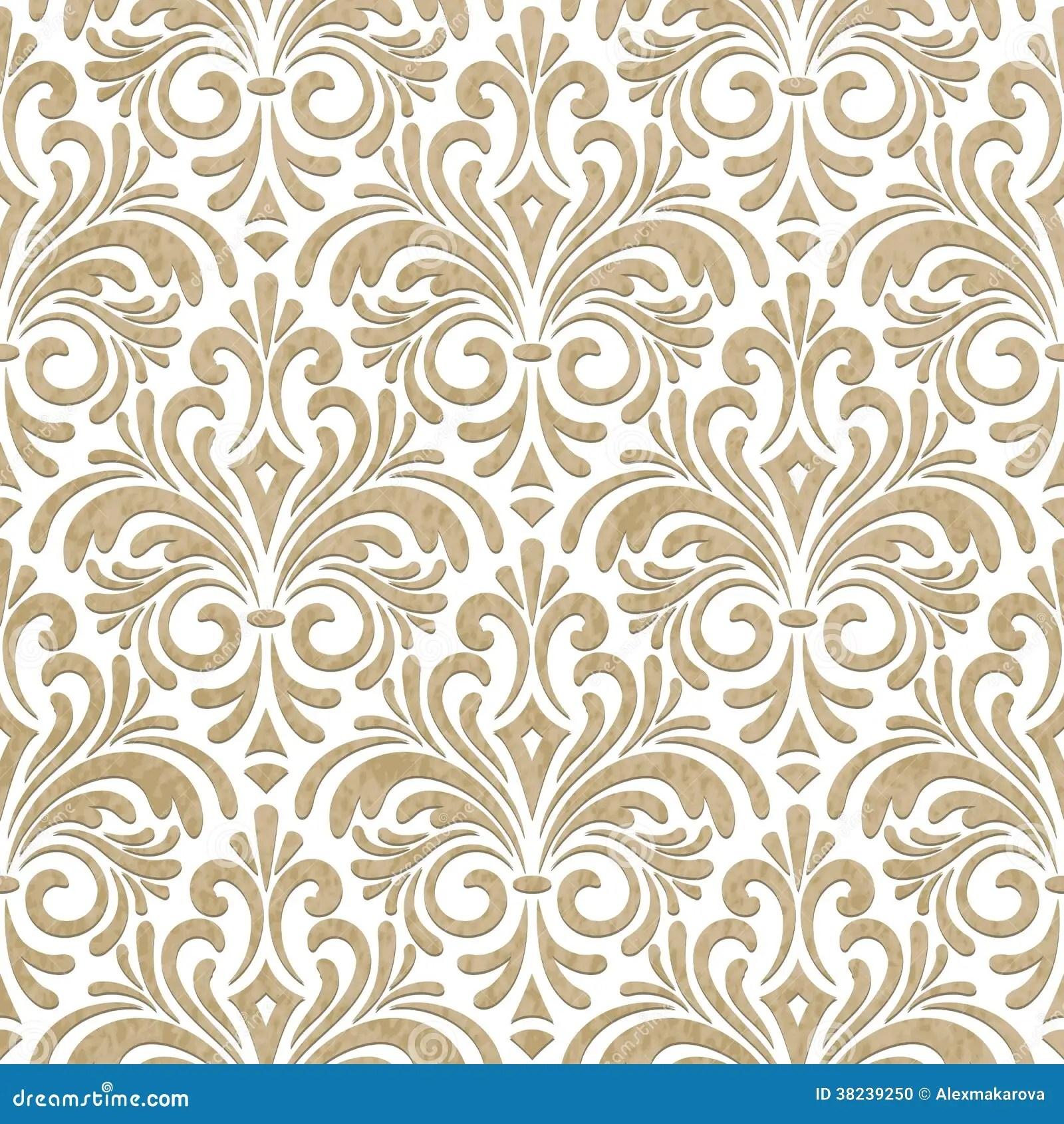 seamless floral paper cut
