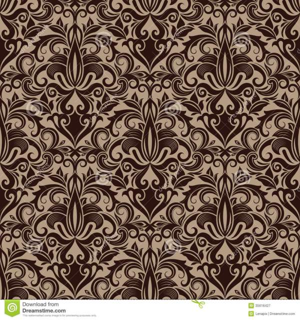 Seamless Floral Wallpaper Royalty Free Stock Photography ...
