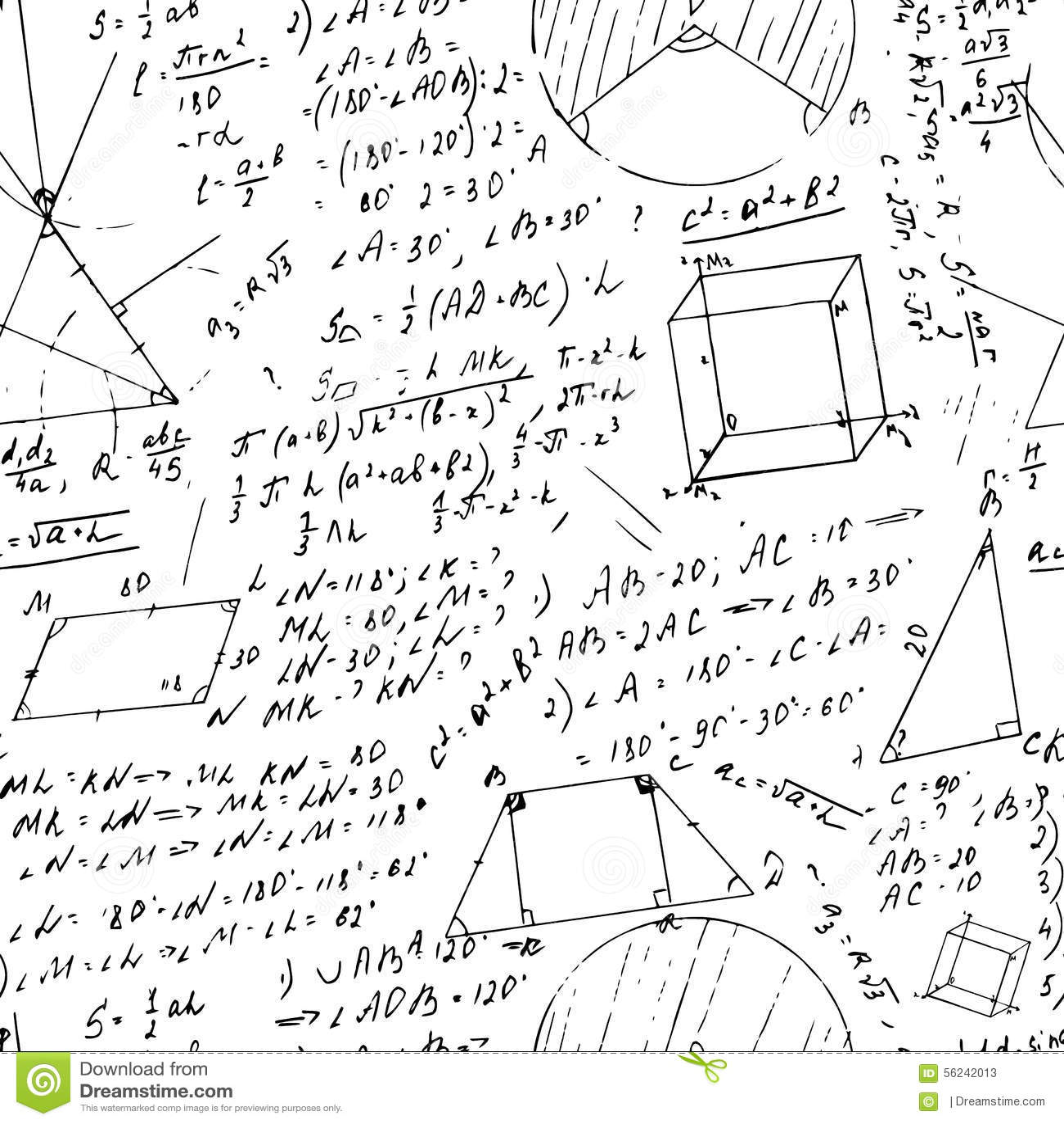 Seamless formula pattern stock vector. Illustration of