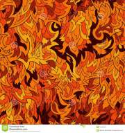 seamless fur flame pattern background