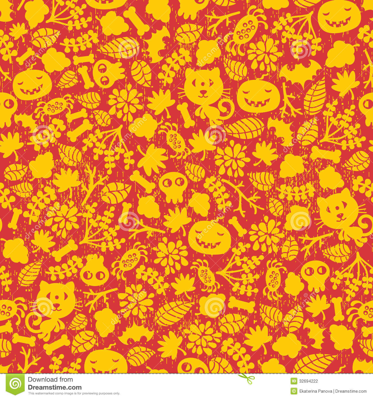 Fall Leaves Clip Art Wallpaper Seamless Halloween Background Stock Photography Image