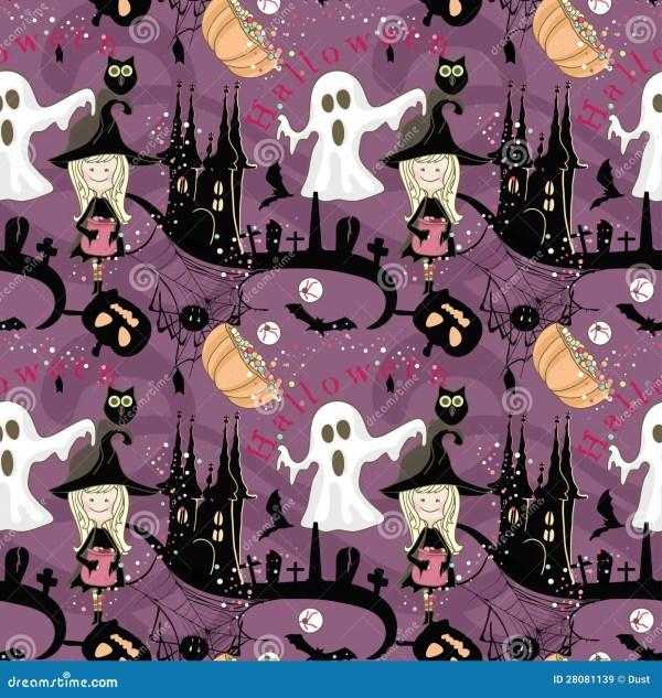Seamless Halloween Pattern Royalty Free Stock