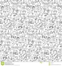 Seamless Hand Drawn Doodle Baby Pattern Stock Vector ...