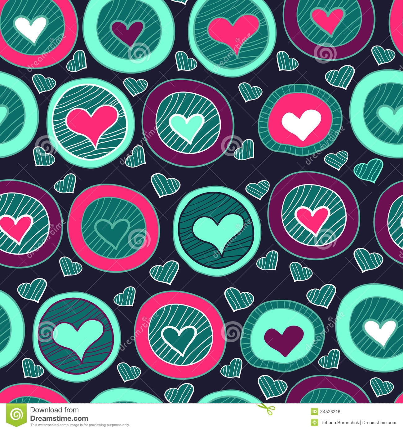 Seamless Heart Pattern For Valentine S Day Stock Vector