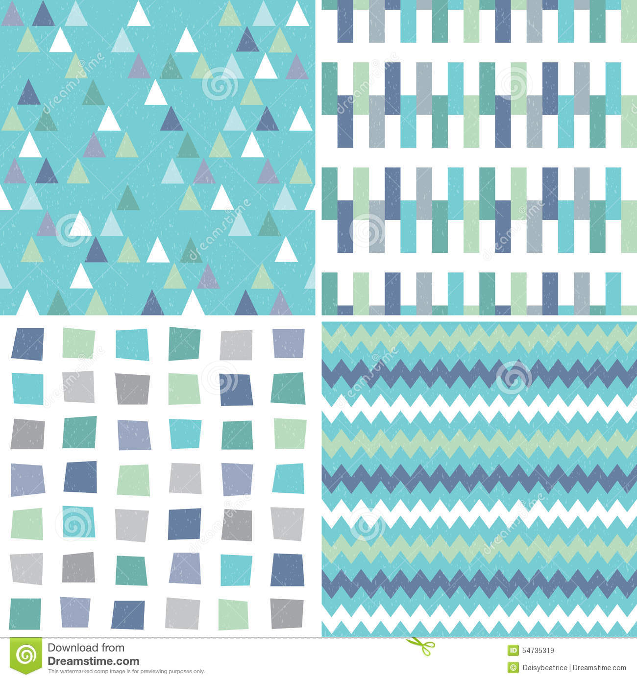 Cute Mint Green Wallpaper Seamless Hipster Geometric Patterns In Aqua Blue And Gray
