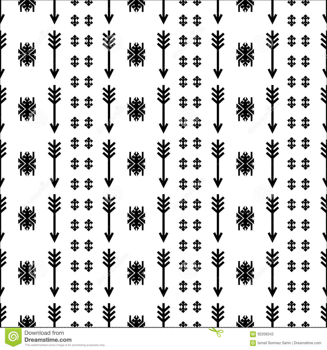 Native American Indian Seamless Pattern Ethnic Traditional