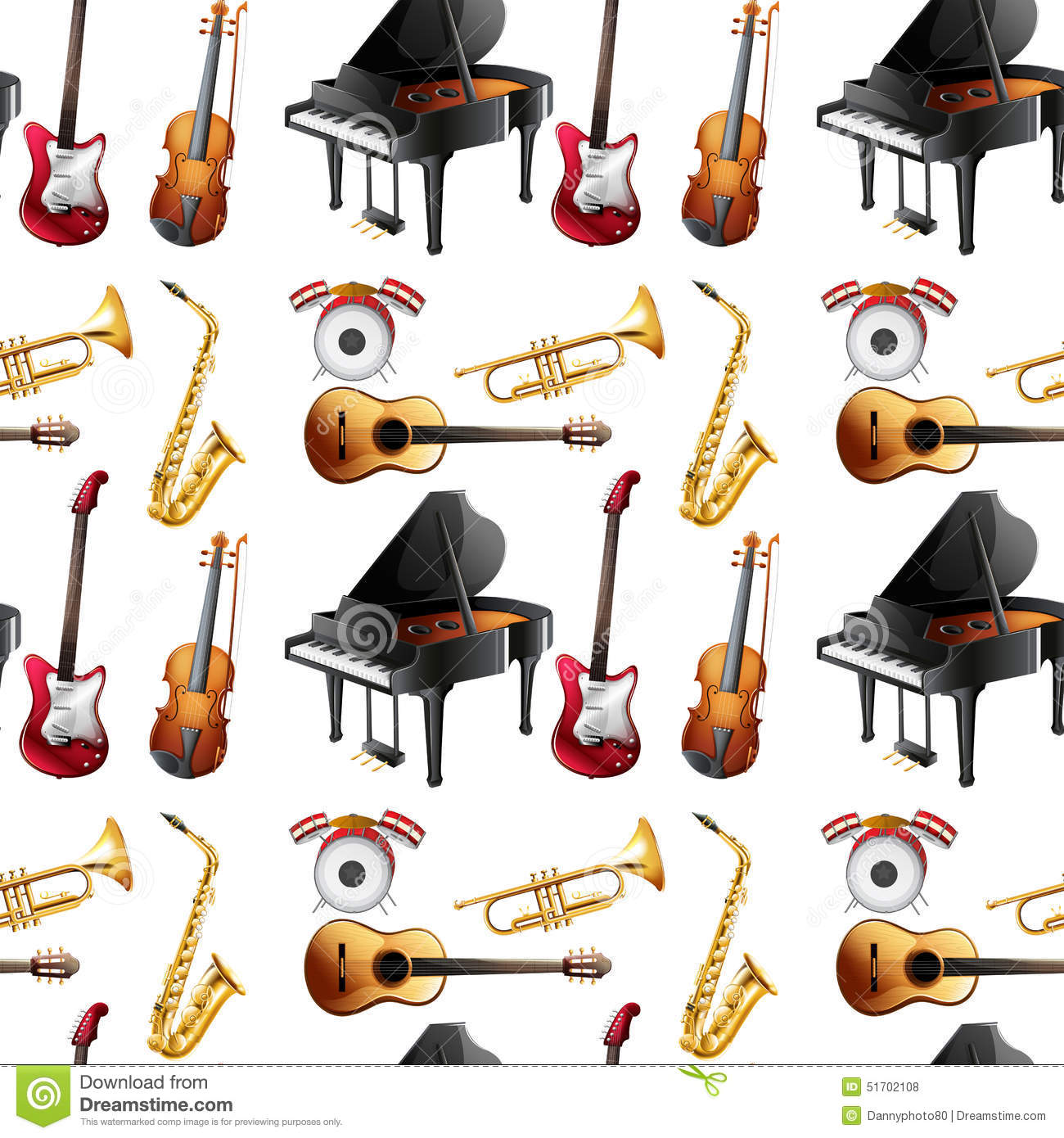 Seamless Instrument Stock Vector
