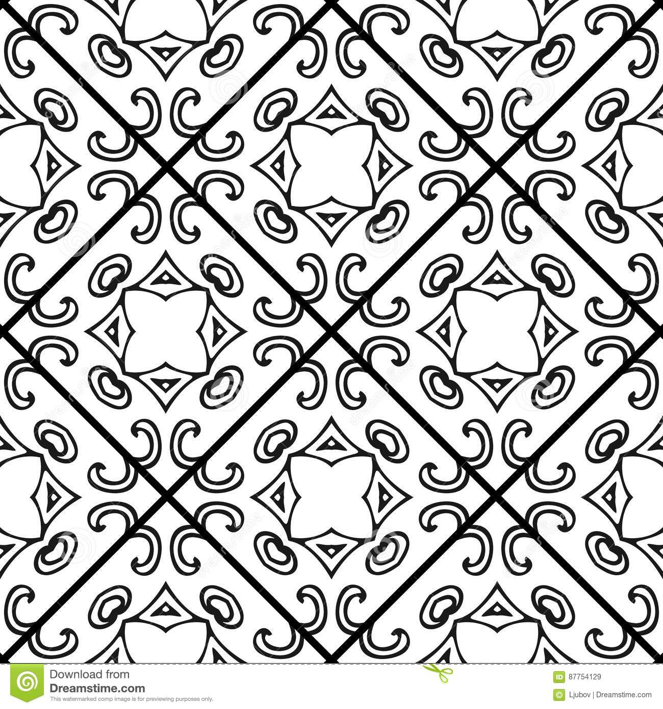 Black And White Tile Pattern Royalty Free Stock Photo