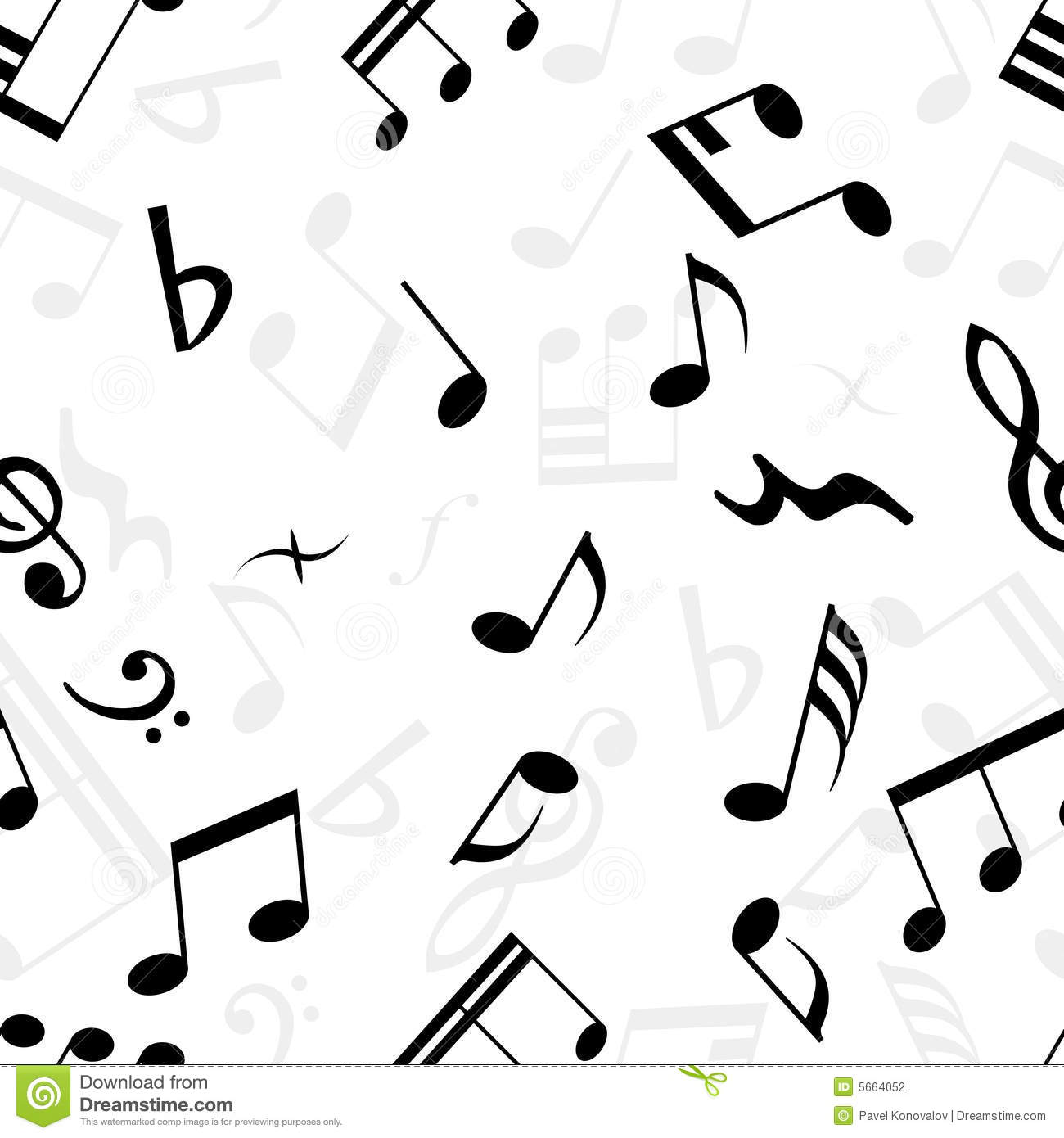 Seamless Music Wallpaper Stock Vector Illustration Of