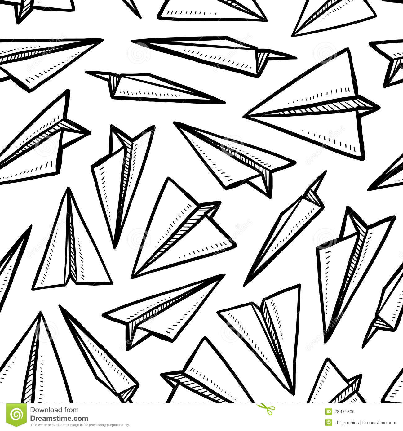 Seamless Paper Airplane Background Royalty Free Stock