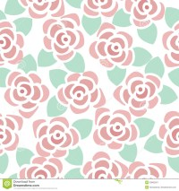Seamless Pattern Background Of Cute Flowers Stock Vector ...