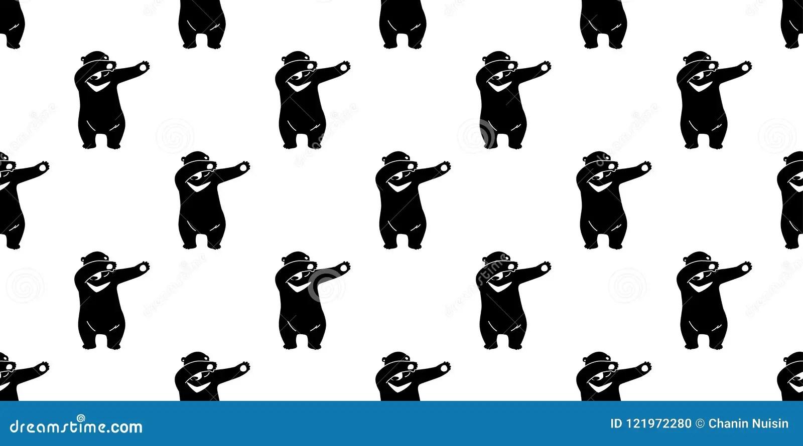 seamless pattern bear polar