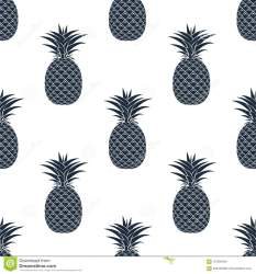 silhouettes pineapple seamless pattern background vector preview