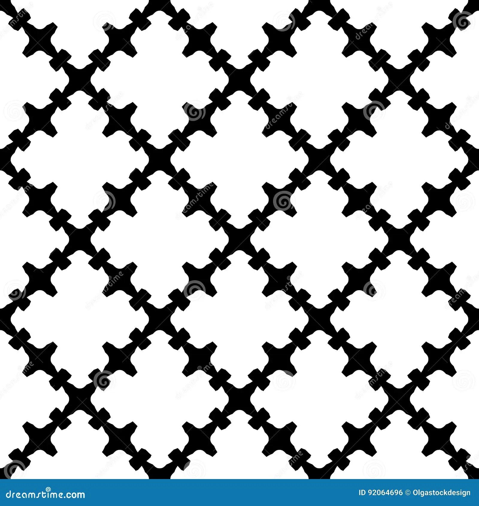 Seamless Pattern, Black & White Gothic Texture Stock